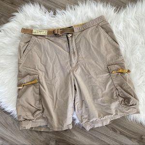 ✨3/$10✨ [structure] khaki cargo shorts with belt
